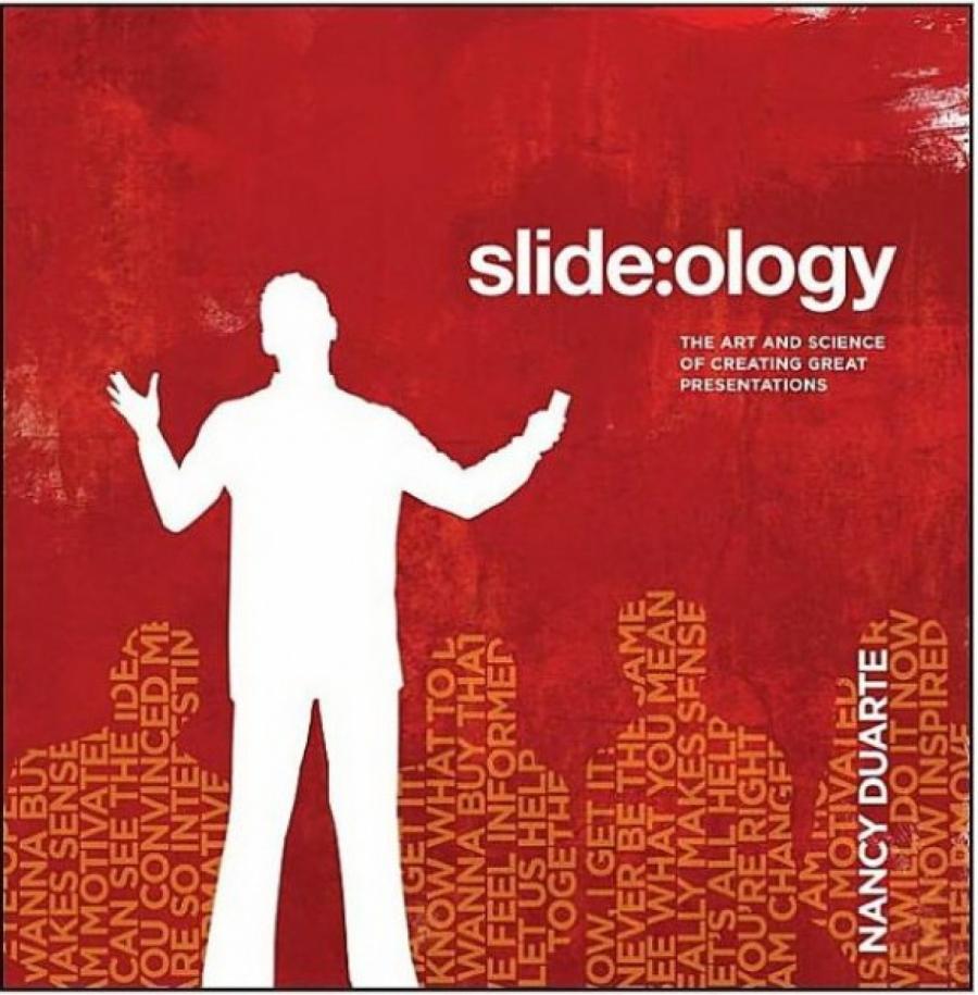 Обложка книги:  нэнси дуарте - slide:ology. искусство создания выдающихся презентаций