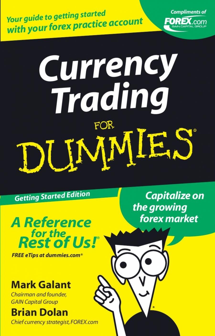 Обложка книги:  марк галант - торговля валютой для чайников (форекс)