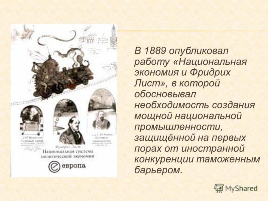 Обложка книги:  ф.лист, с.ю.витте, д.и.менделеев - национальная система политической экономии