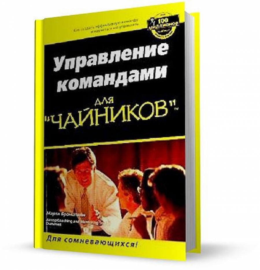 Обложка книги:  для чайников - бронштейн м. - управление командами для чайников.