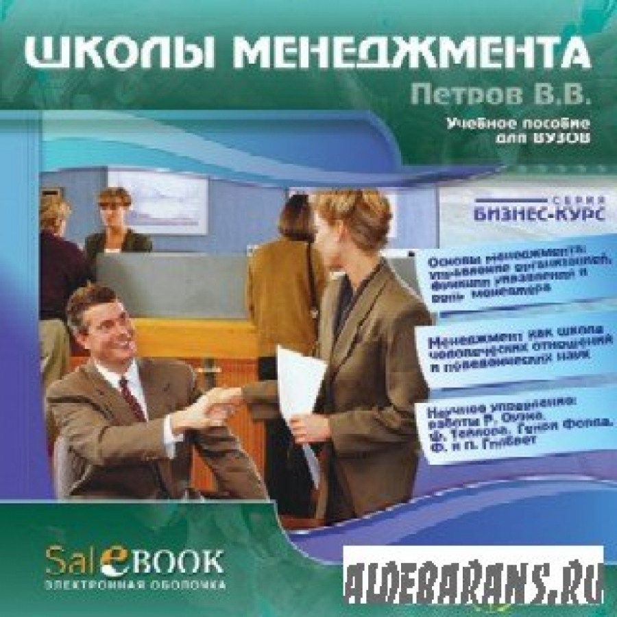 Обложка книги:  петров в. в. - школы менеджмента