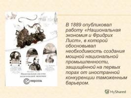 Ф.Лист, С.Ю.Витте, Д.И.Менделеев - Национальная система политической экономии